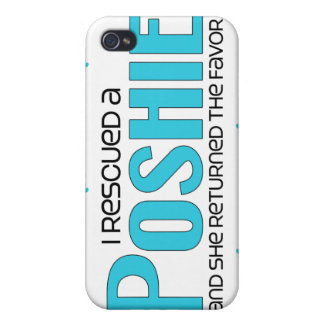 I Rescued a Poshie (Female) Dog Adoption Design Case For iPhone 4