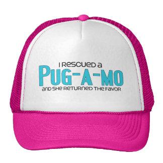 I Rescued a Pug-A-Mo Female Dog Adoption Design Trucker Hat