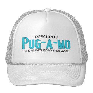 I Rescued a Pug-A-Mo Male Dog Adoption Design Hats