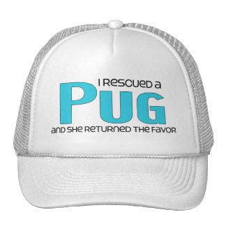 I Rescued a Pug (Female Dog) Mesh Hat