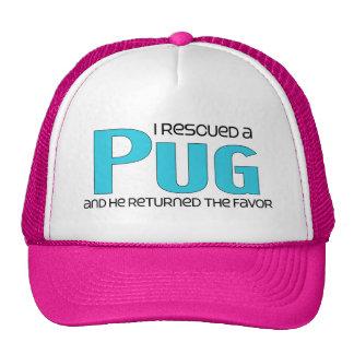 I Rescued a Pug Male Dog Mesh Hats