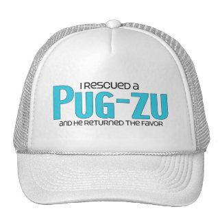 I Rescued a Pug-Zu Male Dog Adoption Design Hats