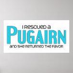 I Rescued a Pugairn (Female) Dog Adoption Design Posters