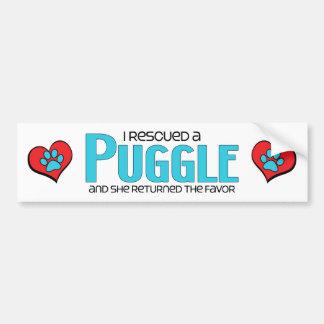 I Rescued a Puggle (Female) Dog Adoption Design Bumper Sticker