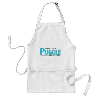I Rescued a Puggle (Male) Dog Adoption Design Adult Apron