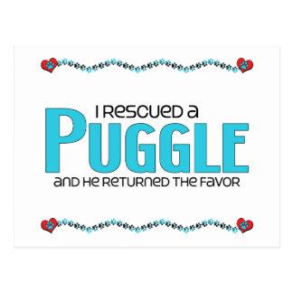 I Rescued a Puggle (Male) Dog Adoption Design Postcard
