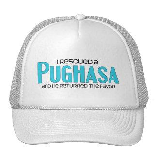 I Rescued a Pughasa (Male) Dog Adoption Design Mesh Hats