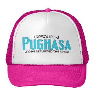 I Rescued a Pughasa (Male) Dog Adoption Design Mesh Hat