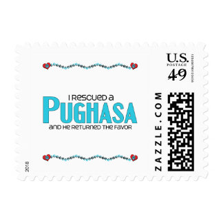 I Rescued a Pughasa (Male) Dog Adoption Design Stamp