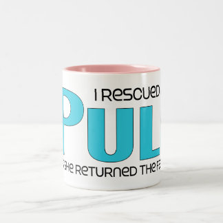 I Rescued a Puli (Female Dog) Two-Tone Coffee Mug