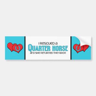 I Rescued a Quarter Horse (Female Horse) Car Bumper Sticker