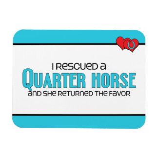 I Rescued a Quarter Horse (Female Horse) Rectangular Photo Magnet