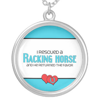 I Rescued a Racking Horse (Male Horse) Round Pendant Necklace