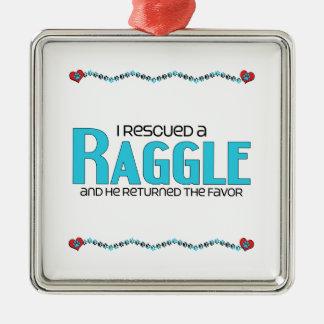 I Rescued a Raggle (Male) Dog Adoption Design Christmas Tree Ornament