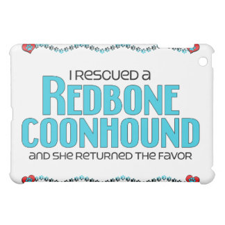 I Rescued a Redbone Coonhound (Female Dog) iPad Mini Cover