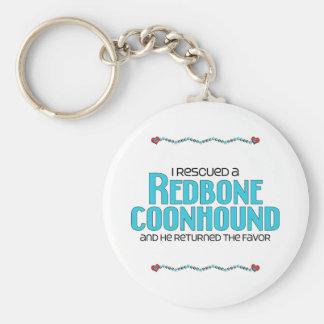 I Rescued a Redbone Coonhound (Male Dog) Basic Round Button Keychain