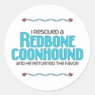 I Rescued a Redbone Coonhound (Male Dog) Sticker