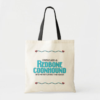 I Rescued a Redbone Coonhound (Male Dog) Tote Bag