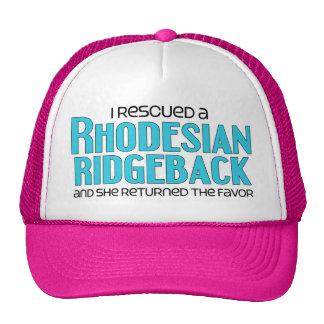 I Rescued a Rhodesian Ridgeback (Female Dog) Mesh Hats