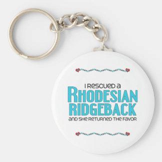 I Rescued a Rhodesian Ridgeback (Female Dog) Key Chain