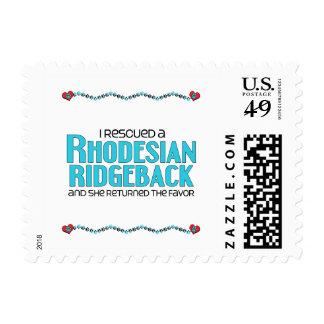 I Rescued a Rhodesian Ridgeback (Female Dog) Postage