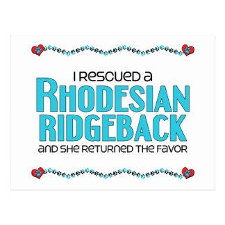 I Rescued a Rhodesian Ridgeback (Female Dog) Postcard