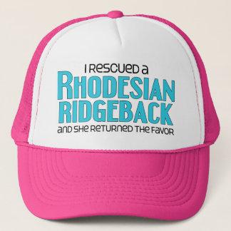 I Rescued a Rhodesian Ridgeback (Female Dog) Trucker Hat