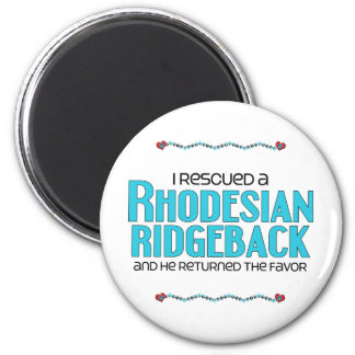 I Rescued a Rhodesian Ridgeback (Male Dog) 2 Inch Round Magnet