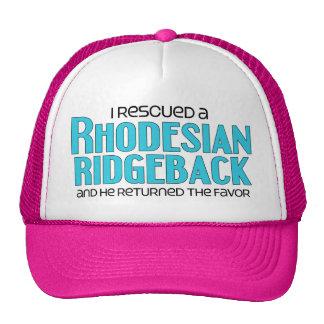 I Rescued a Rhodesian Ridgeback (Male Dog) Mesh Hats