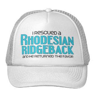 I Rescued a Rhodesian Ridgeback (Male Dog) Mesh Hat