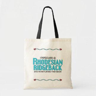 I Rescued a Rhodesian Ridgeback (Male Dog) Tote Bag
