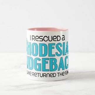 I Rescued a Rhodesian Ridgeback (Male Dog) Two-Tone Coffee Mug