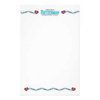 I Rescued a Rotterman (Female) Dog Adoption Design Stationery Paper