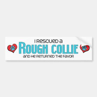 I Rescued a Rough Collie (Male Dog) Bumper Sticker