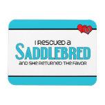 I Rescued a Saddlebred (Female Horse) Vinyl Magnet