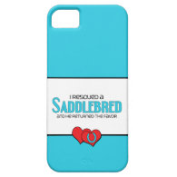 I Rescued a Saddlebred (Male Horse) iPhone 5 Cover