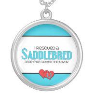 I Rescued a Saddlebred (Male Horse) Custom Necklace