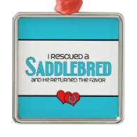 I Rescued a Saddlebred (Male Horse) Ornament