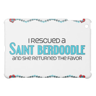 I Rescued a Saint Berdoodle (Female) Dog Adoption iPad Mini Case