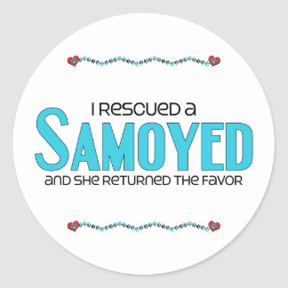 I Rescued a Samoyed (Female Dog) Sticker