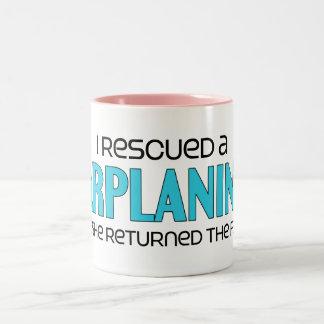 I Rescued a Sarplaninac (Female Dog) Two-Tone Coffee Mug