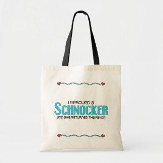 I Rescued a Schnocker (Female) Dog Adoption Design Budget Tote Bag