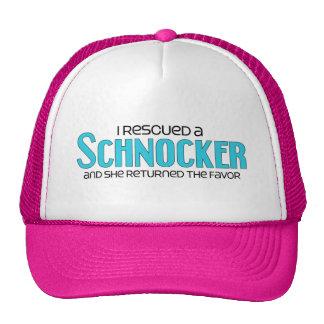 I Rescued a Schnocker (Female) Dog Adoption Design Trucker Hat