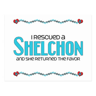 I Rescued a Shelchon (Female) Dog Adoption Design Post Cards