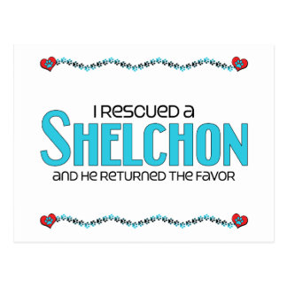 I Rescued a Shelchon (Male) Dog Adoption Design Post Cards