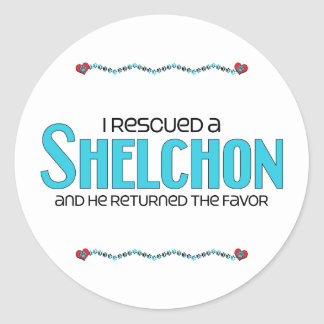 I Rescued a Shelchon (Male) Dog Adoption Design Sticker