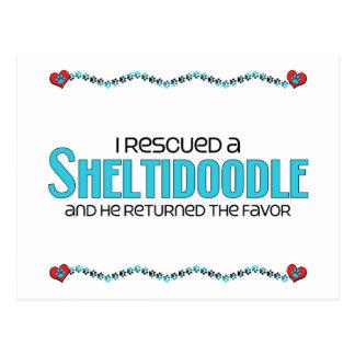 I Rescued a Sheltidoodle (Male) Dog Adoption Postcard