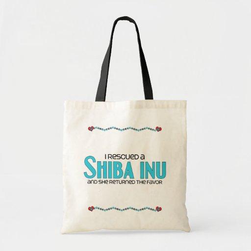 I Rescued a Shiba Inu (Female Dog) Canvas Bag