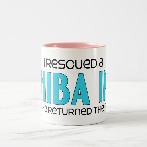 I Rescued a Shiba Inu (Female Dog) Coffee Mug