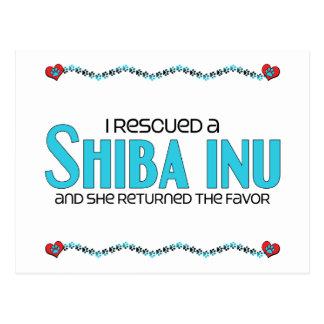 I Rescued a Shiba Inu (Female Dog) Postcard